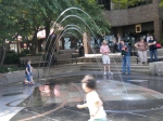 The fountain at the Ped Mall