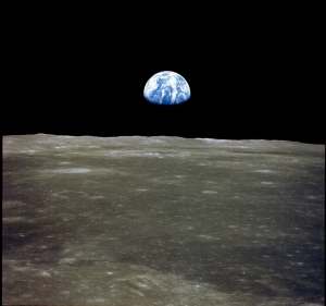 earth from the moon