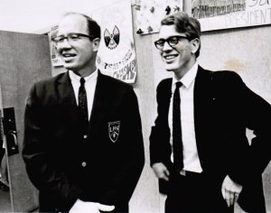 Owen Goldsmith and Tom Darter in 1969, before the premiere of Psalm 90.